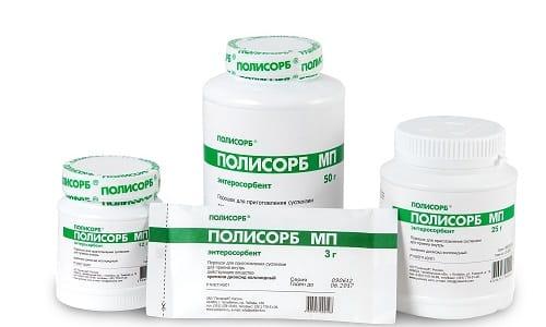 Полисорб используется в терапии заболеваний кожных покровов: дерматиты, экземы